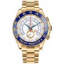 Rolex Yacht-Master II Yellow gold 44mm White No numerals UAE, DUBAI (By Appointment 10am-10pm)
