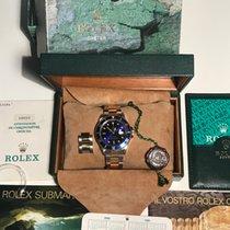 Rolex Submariner Date Zlato/Zeljezo 40mm Plav-modar Bez brojeva