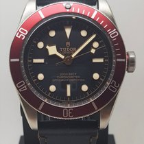 Tudor Black Bay Stal 41mm Czarny Bez cyfr
