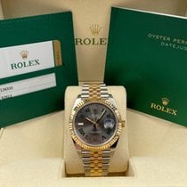 Rolex Datejust Gold/Steel 41mm Grey Roman numerals