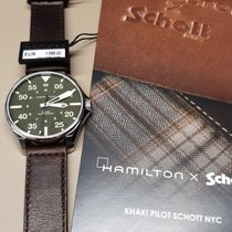 Hamilton Khaki Pilot Acier 46mm Vert Arabes