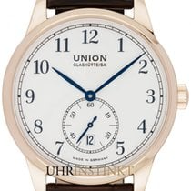 Union Glashütte Rose gold Automatic White 41mm new 1893 Small Second