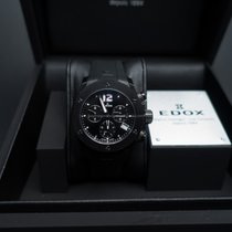 Edox new Quartz Small Seconds Luminescent Hands Screw-Down Crown PVD/DLC coating 38mm Steel Sapphire Glass