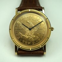 Corum Coin Watch pre-owned 32mm Yellow gold