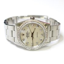 Rolex Air King Precision 34mm Stainless Steel Custom Diamonds...