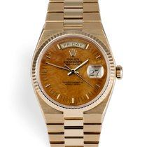 Rolex 19018 Day-Date Walnut Dial - Oyster Quartz - Rare Wood Dial