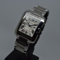 Cartier Tank Anglaise 3511 Large Steel MINT from 2017