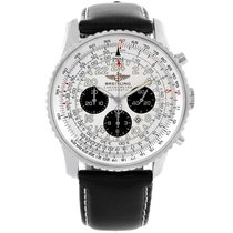Breitling Navitimer Cosmonaute pre-owned 41.5mm Silver Leather