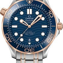 Omega Seamaster Diver 300 M Gold/Steel 42mm Blue United States of America, New York, Airmont