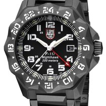 a4f628e6ebaf Luminox F-117 Nighthawk Steel 44mm Black Arabic numerals