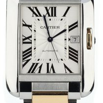 Cartier Tank Anglaise Gold/Steel 47mm Silver United States of America, Illinois, BUFFALO GROVE
