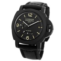 Panerai Luminor 1950 10 Days GMT pre-owned 44mm Black Date GMT Buckle