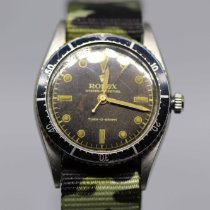 Rolex Steel 36mm Black No numerals