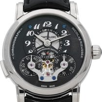 Montblanc White gold Manual winding 42mm pre-owned Nicolas Rieussec