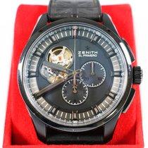 Zenith El Primero Chronomaster pre-owned Black Chronograph Leather