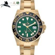 Rolex Or jaune Remontage automatique Vert 40mm occasion GMT-Master II