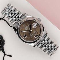 Rolex Datejust Or/Acier 36mm Brun
