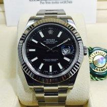 롤렉스 (Rolex) Datejust II Black Index Dial White Gold Bezel 41mm...