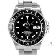 Rolex GMT-Master II Stainless Steel Black Dial Black 24hr...