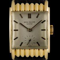 Patek Philippe 18k Yellow Gold Scalloped Hooded Lugs Vintage...