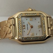 Cartier Panthere Lady Yellow Gold Pearl Dial Diamonds 18 krt