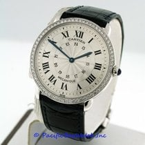 Cartier Ronde Louis Mid-Size 18k White Gold Pre-Owned