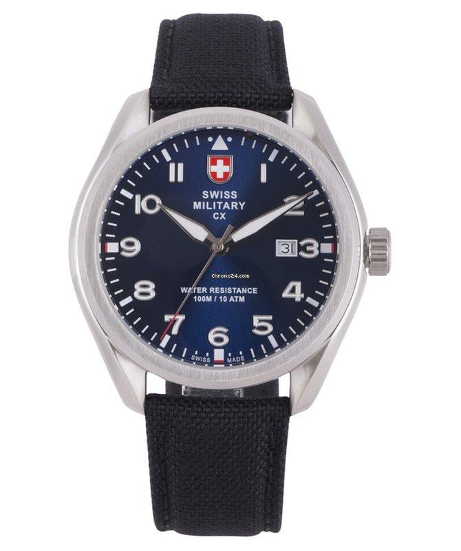 Dial 2857 Date Swiss Pilot Watch Blue 10atm Military Cx Mirage Quartz rdtQChs