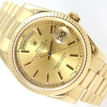Rolex DAY-DATE PRESIDENT GOLD & CHAMPAGNE DIAL  - K-SERIES