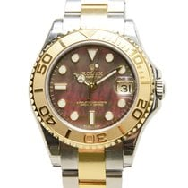 Rolex Yacht Master Gold And Steel Black Automatic 168623BKMOP