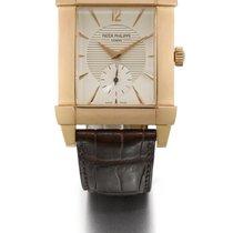 Patek Philippe   A Pink Gold Rectangular Wristwatch Ref 5111...