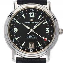 Maurice Lacroix Pontos GMT Edelstahl Automatik Armband Leder...