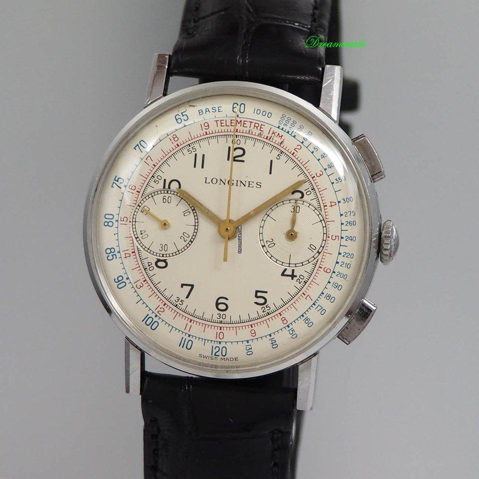 longines chronograph 30ch vintage 1950 stahl leder 7412 4 f r kaufen von einem trusted. Black Bedroom Furniture Sets. Home Design Ideas