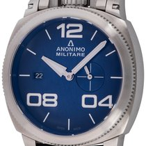 Anonimo pre-owned Automatic 43.5mm Blue 10 ATM
