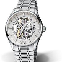 Oris Artelier Skeleton Steel 40mm Silver No numerals