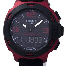 Tissot Aluminium Kvarts Sort 42.2mm ny T-Race Touch