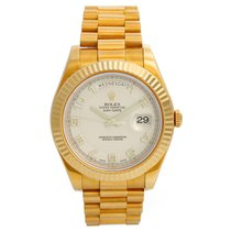 Rolex Day-Date II Yellow gold 41mm Champagne United States of America, Texas, Dallas