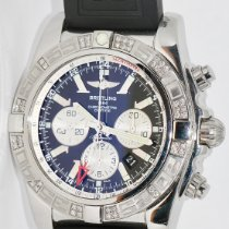 Breitling Chronomat GMT Steel 47mm Black No numerals