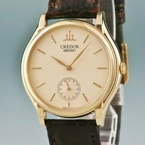 Seiko Yellow gold Manual winding 36mm pre-owned