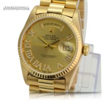 Rolex Day-Date 36 Κίτρινο χρυσό 36mm Χρυσό Xωρίς ψηφία