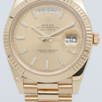 Rolex Or jaune Remontage automatique Champagne 40mm occasion Day-Date 40