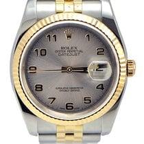 Rolex Datejust Or/Acier 36mm Gris Arabes
