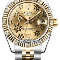 Rolex Datejust Goud/Staal 31mm Champagne