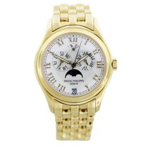 Patek Philippe Annual Calendar Moonphase White Dial Gold...