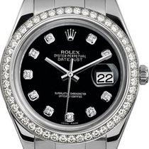 Rolex 41mm Datejust II Stainless Steel 116334 Custom Black...