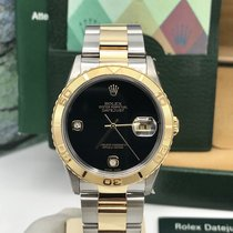 Rolex 16263 DateJust FACTORY Onyx Diamond Dial Full set 2003  NOS
