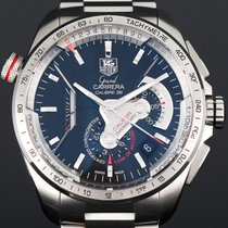 TAG Heuer Grand Carrera Stål 43mm Sort Ingen tal