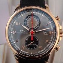 IWC Portuguese Yacht Club Chronograph używany 45mm Złoto różowe