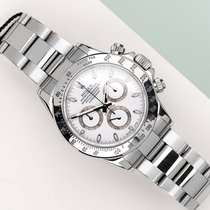 Rolex Steel Automatic White 40mm pre-owned Daytona