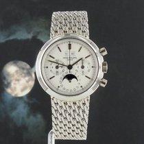 Patek Philippe Perpetual Calendar Chronograph Platinum 36mm White