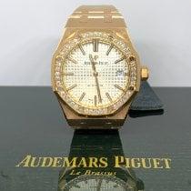 Audemars Piguet Rose gold Automatic Silver No numerals 37mm new Royal Oak Lady